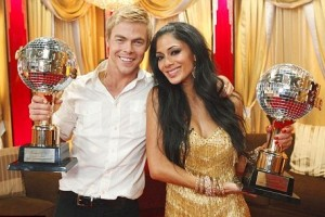 Nicole Scherzinger and her partner Derek Hough