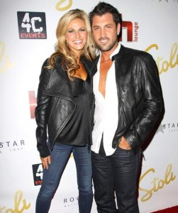 Erin Andrews and partner Maksim