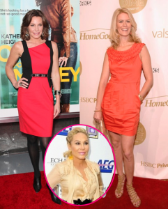 LuAnn de Lesseps and Alex McCord with Adrienne Maloof