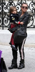 Kourtney Kardashian and her son Mason in Paris