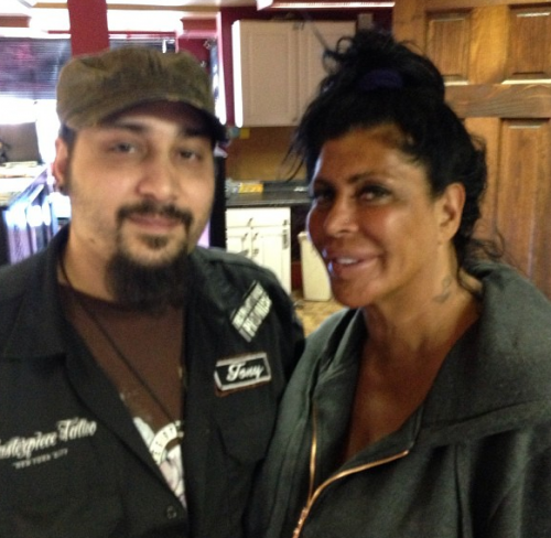 Mob Wives' Big Ang Gets Her Nose Pierced!