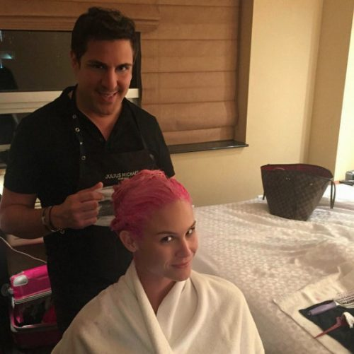Photos – Meghan Edmonds Goes Pink!
