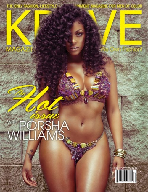 "Porsha Williams First Woman To Land Cover Of Krave Magazine! See Her Bikini Photo In The Mag's ""Hot Issue"""