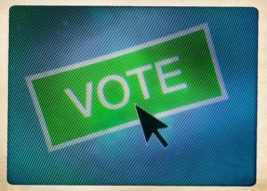 Close-Up Of Cursor On Vote Icon