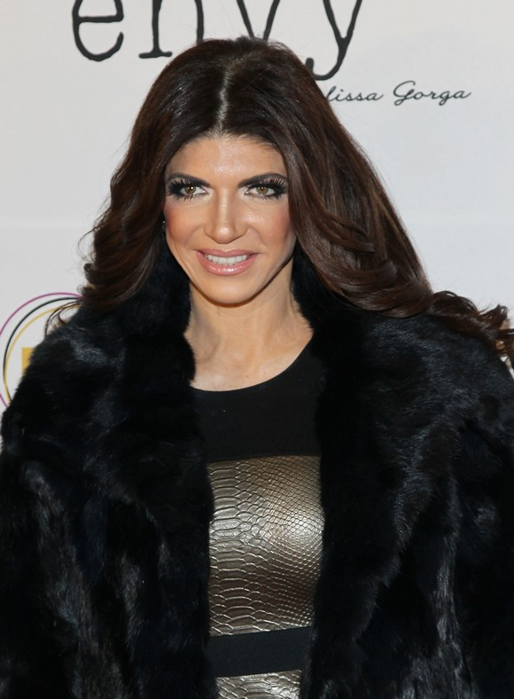 MONTCLAIR, NJ - JANUARY 14:  TV personality Teresa Giudice attends the grand opening of envy by Melissa Gorga Boutique on January 14, 2016 in Montclair, New Jersey.  (Photo by Bennett Raglin/Getty Images)