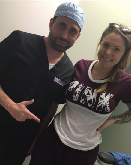 Kail Lowry with Dr. Maimi