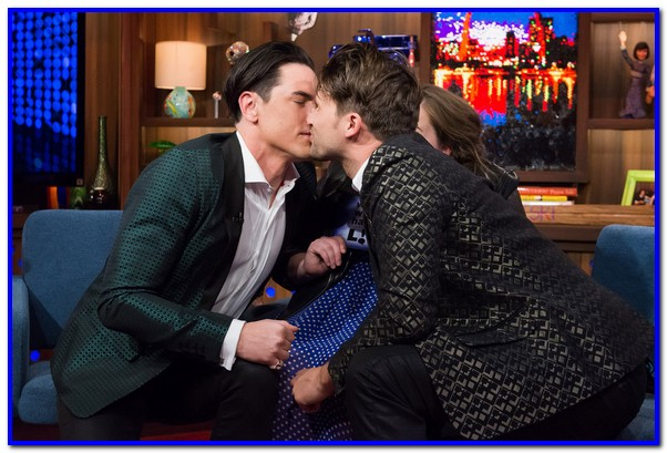 WATCH WHAT HAPPENS LIVE -- Episode 13031 -- Pictured: (l-r) Tom Sandoval, Tom Schwartz -- (Photo by: Charles Sykes/Bravo)