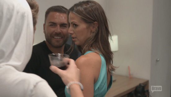 James confronts Kristen at Katie's launch