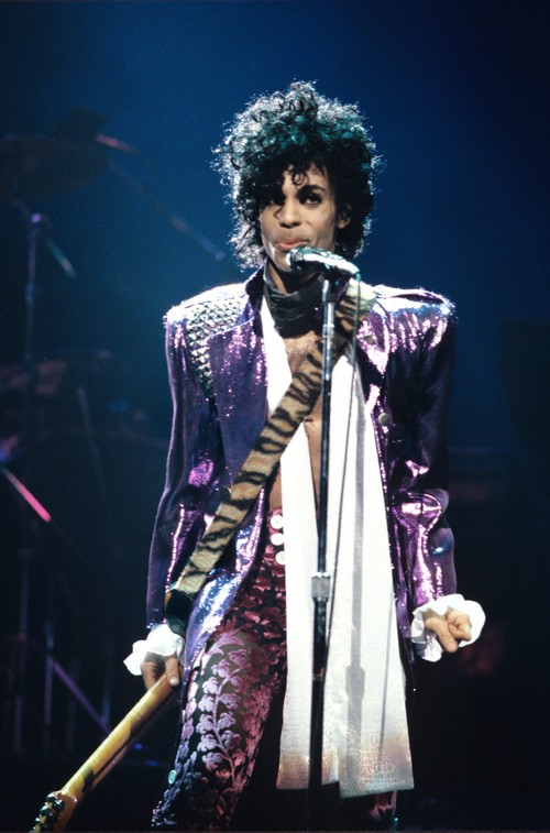 UNITED STATES - NOVEMBER 08: Photo of PRINCE; Prince performing on stage - Purple Rain tour (Photo by Ebet Roberts/Redferns)