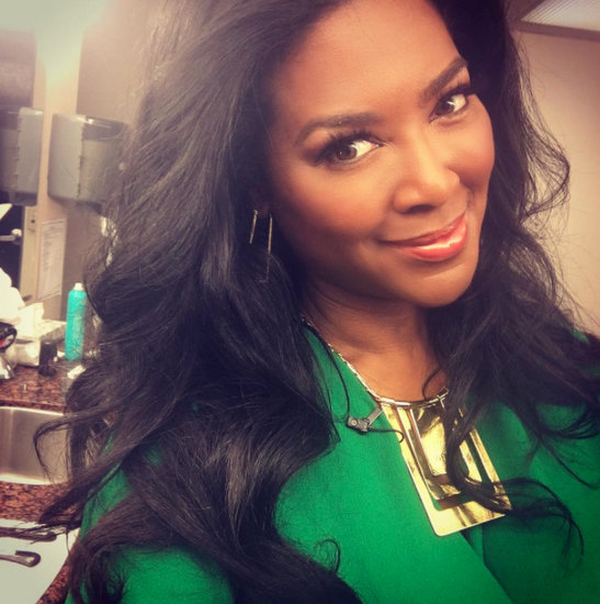 Kenya Moore Wears Green