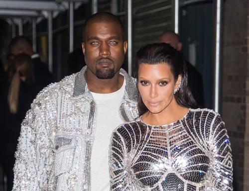 Kanye West and Kim Kardashian at MET Gala