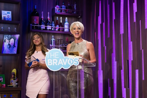 THE BRAVOS -- Pictured: (l-r) Gia Giudice, Dorinda Medley -- (Photo by: Charles Sykes/Bravo)