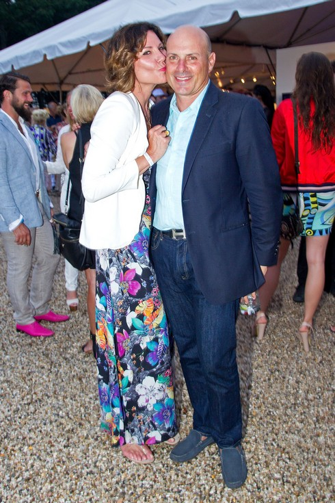 WATER MILL, NY - JULY 30: Luann de Lesseps and Tom D'Agostino Jr. attend the 23rd Annual Watermill Summer Benefit at The Watermill Center on July 30, 2016 in Water Mill, New York. (Photo by Steve Mack/FilmMagic)