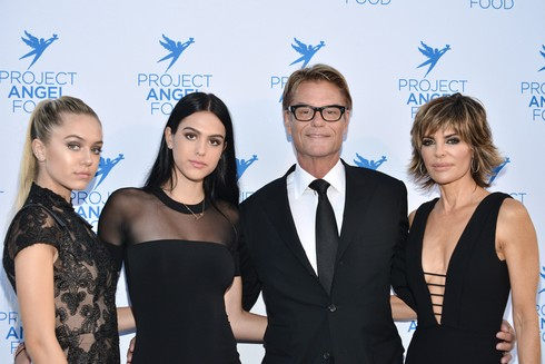 LOS ANGELES, CA - SEPTEMBER 17: Delilah Belle Hamlin, Amelia Gray Hamlin, Harry Hamlin and Lisa Rinna attend the Project Angel Food's Angel Awards 2016 Honoring Lisa Rinna, Mitch O'Farrell & Joseph Mannis, ESQ on September 17, 2016 in Los Angeles, California. (Photo by Araya Diaz/Getty Images for Project Angel Food)