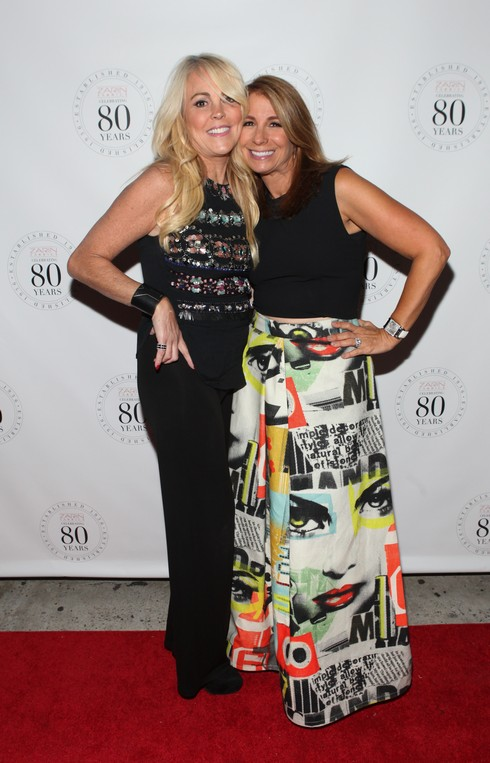NEW YORK, NY - OCTOBER 06: Dina Lohan and Jill Zarin attend Zarin Fabric's 80th Anniversary at Zarin Fabrics on October 6, 2016 in New York City. (Photo by Steve Zak Photography/Getty Images)