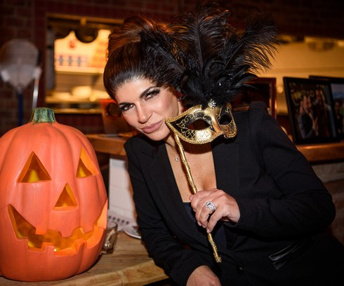 MONTCLAIR, NJ - OCTOBER 27: Teresa Giudice poses at the Fresco Da Franco Halloween Ball at Fresco Restaurant on October 27, 2016 in Montclair, New Jersey. (Photo by Dave Kotinsky/Getty Images)