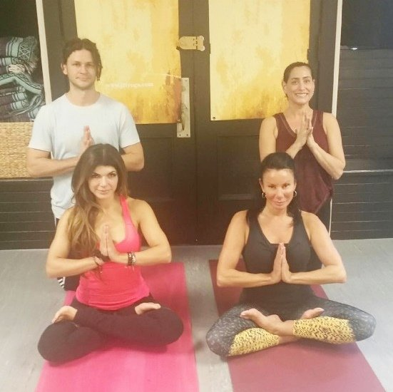 Teresa Giudice and Danielle Staub yoga