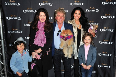 IRVINE, CA - NOVEMBER 19: (L-R) Max Todd, Lisa Vanderpump, Ken Todd, Joyce Giraud, and Pandora Todd arrive at the Premiere Event of 'Odysseo By Cavalia' on November 19, 2016 in Irvine, California. (Photo by Jerod Harris/WireImage,)