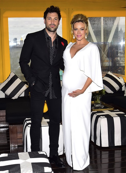 BROOKLYN, NY - DECEMBER 18: (EXCLUSIVE COVERAGE) Maksim Chermoskeivy,Peta Murgatroyd at The McCarren Hotel on December 18, 2016 in Brooklyn, New York. (Photo by Alo Ceballos/GC Images)