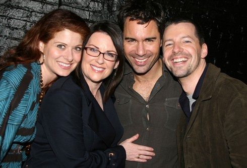 Debra Messing, Megan Mullally, Eric McCormack and Sean Hayes ***EXCLUSIVE COVERAGE*** (Photo by Bruce Glikas/FilmMagic)