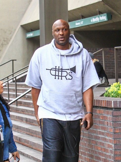 LOS ANGELES, CA - JANUARY 09: Lamar Odom is seen on January 09, 2017 in Los Angeles, California.  (Photo by BG012/Bauer-Griffin/GC Images)
