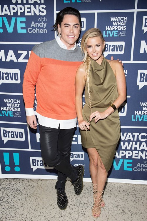 Ariana Madix and Tom Sandoval on WWHL