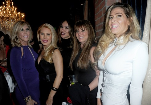 NEWPORT BEACH, CA - FEBRUARY 19: Reality TV stars Vicki Gunvalson and Gretchen Rossi attend the Amare Magazine's Winter Soiree 3rd Issue Launch held at EnVy Lounge on February 19, 2017 in Newport Beach, California. (Photo by Albert L. Ortega/Getty Images)