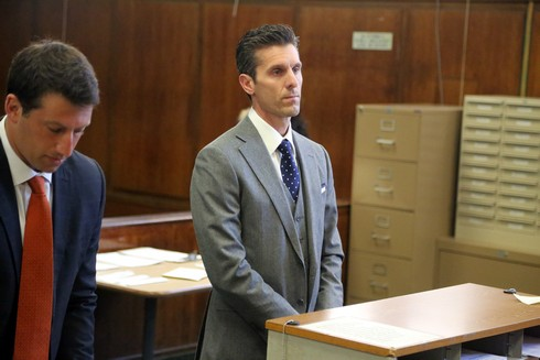Jason Hoppy appears in Manhattan Criminal Court on Monday, March 13, 2017. Hoppy, the ex-husband of Bethenny Frankel, is accused of allegedly stalking and harassing the