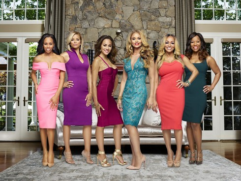 THE REAL HOUSEWIVES OF POTOMAC -- Season:2 -- Pictured: (l-r) Monique Samuels, Robyn Dixon, Ashley Boalch Darby, Gizelle Bryant, Karen Huger, Charrisse Jackson-Jordan -- (Photo by: Tommy Garcia/Virginia Sherwood/Bravo)