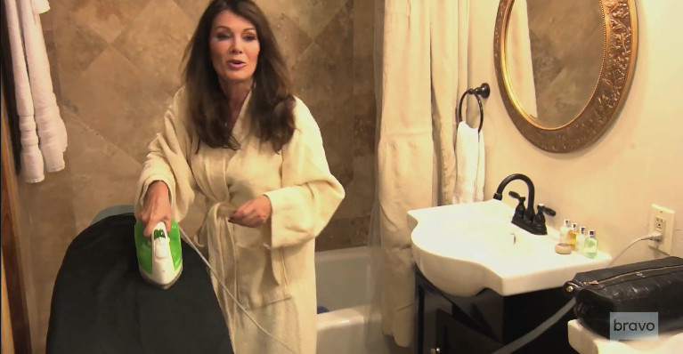 lisa-vanderpump-ironing-tom-katie-wedding
