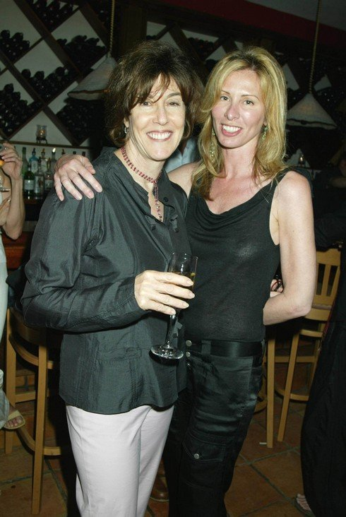 NORA EPHRON AND CAROLE RADZIWILL during DINNER PARTY FOR