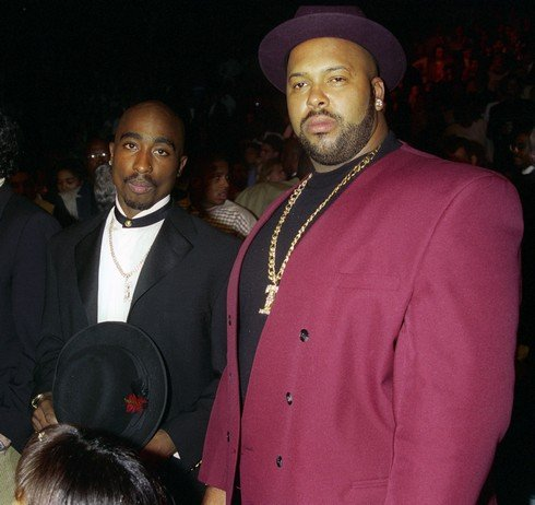 Tupac Shakur and Marion Suge Knight (Photo by Jeff Kravitz/FilmMagic)