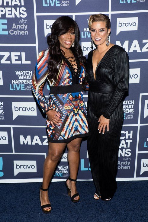 WATCH WHAT HAPPENS LIVE WITH ANDY COHEN -- Episode 14067 -- Pictured: (l-r) Charrisse Jackson Jordan, Robyn Dixon -- (Photo by: Charles Sykes/Bravo)