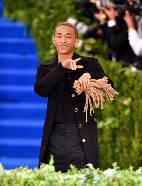 NEW YORK, NY - MAY 01:  Jaden Smith attends the 'Rei Kawakubo/Comme des Garcons: Art Of The In-Between' Costume Institute Gala at Metropolitan Museum of Art on May 1, 2017 in New York City.  (Photo by James Devaney/GC Images,)