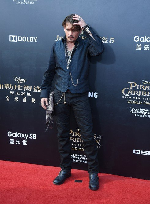 SHANGHAI, CHINA - MAY 11: American actor Johnny Depp attends the premiere of film