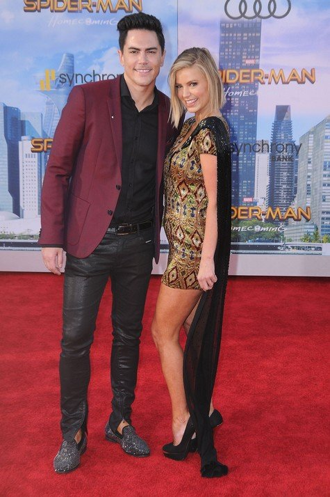 HOLLYWOOD, CA - JUNE 28: (L-R) Actor Tom Sandoval and Ariana Madix attend the World Premiere of Columbia Pictures' 'Spider-Man: Homecoming' at TCL Chinese Theatre on June 28, 2017 in Hollywood, California. (Photo by Barry King/Getty Images)
