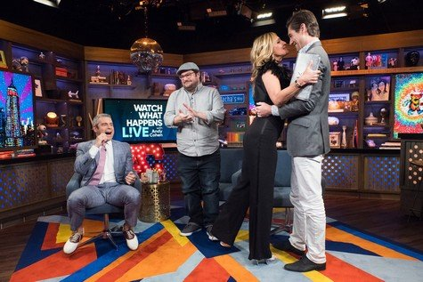 WATCH WHAT HAPPENS LIVE WITH ANDY COHEN -- Episode 14099 -- Pictured: (l-r) Andy Cohen, Bobby Moynihan, Sonja Morgan, Craig Conover -- (Photo by: Charles Sykes/Bravo)