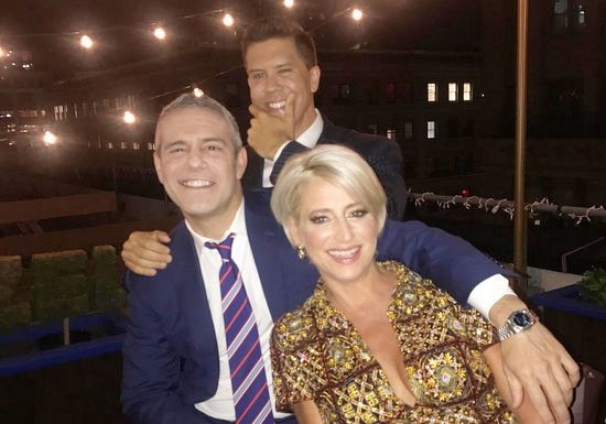 Dorinda Medley and Fredrik Eklund on WWHL