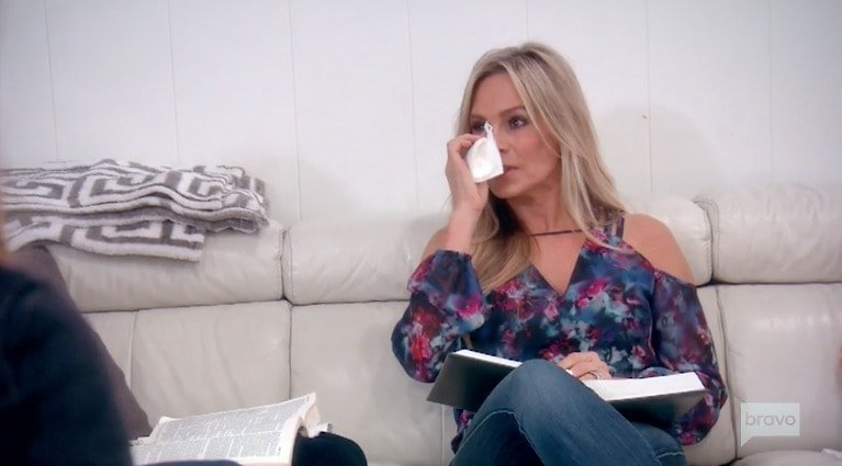 Tamra attends bible study with Lydia
