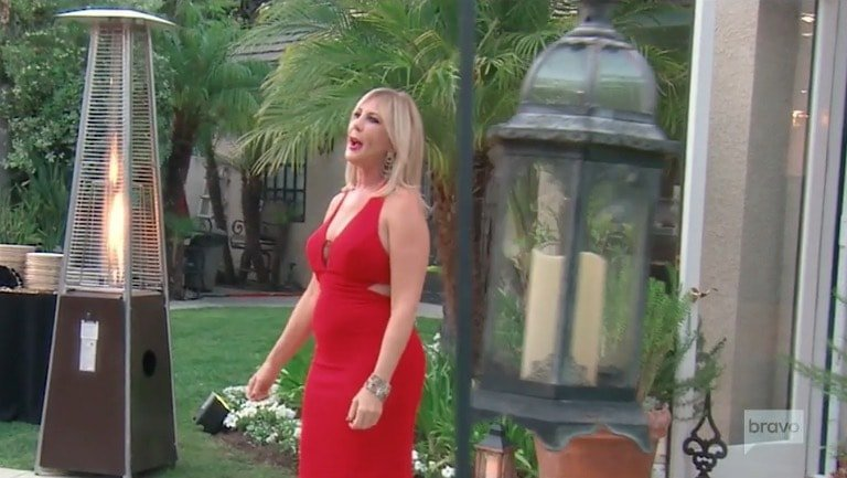 Vicki arrives at her birthday party