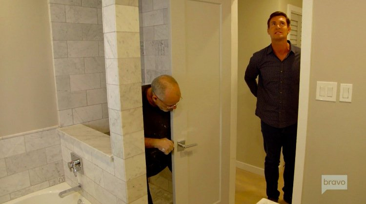 Jeff-Lewis-Black-Shirt-Bathroom-Remodel-Shower-Flipping-Out