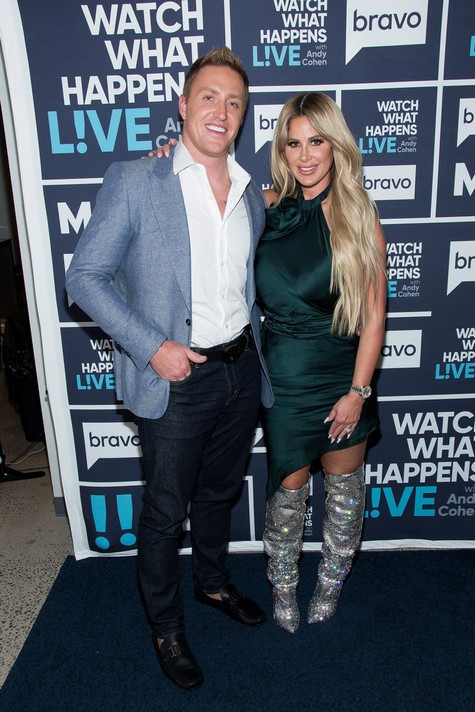 WATCH WHAT HAPPENS LIVE WITH ANDY COHEN -- Episode 14160 -- Pictured: (l-r) Kroy Biermann, Kim Zolciak-Biermann -- (Photo by: Charles Sykes/Bravo)