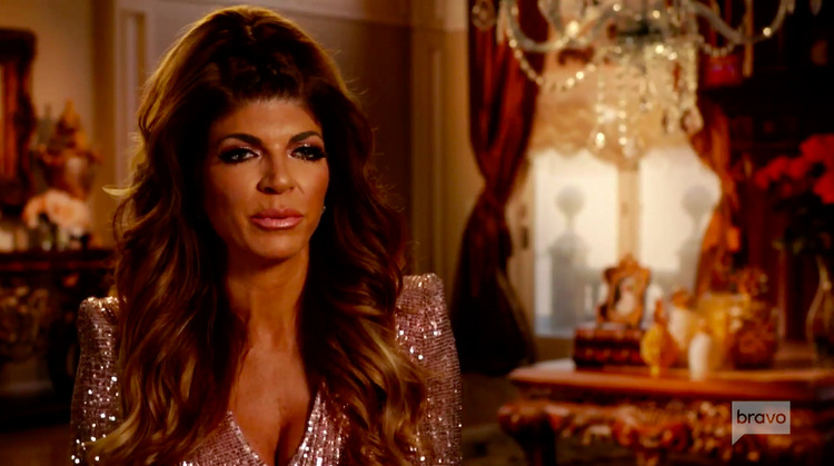 Teresa-Giudice-Top-Ponytail-Rosegold-Sparkle-Gown-TH-RHONJ