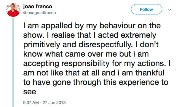 Joao Franco Apologizes For His Behavior On Below Deck Mediterranean