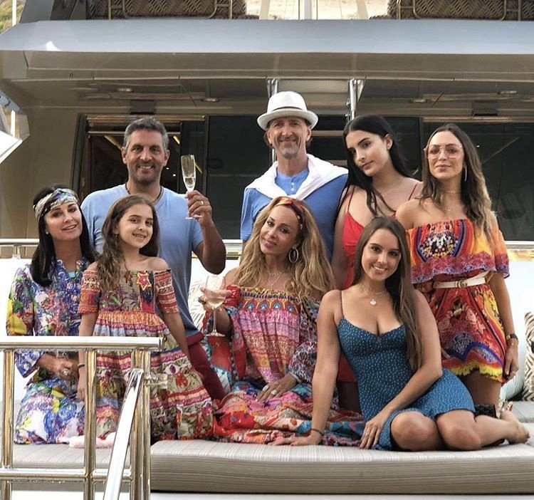 Kyle Richards Vacations In Europe With Her Family & Faye Resnick- Photos