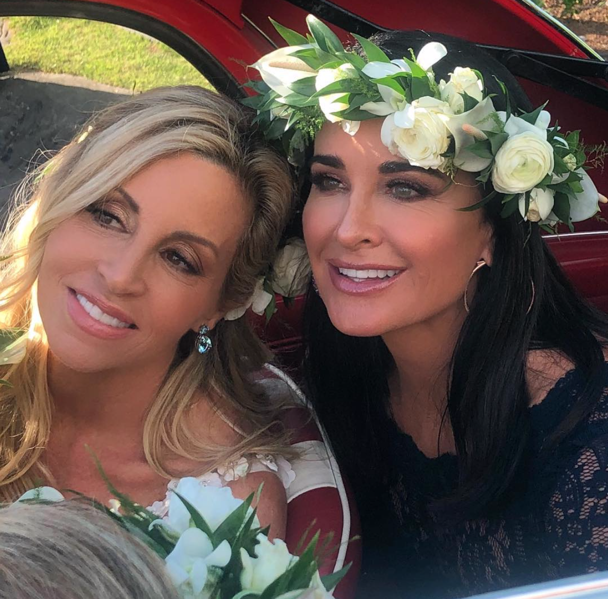 Kyle Richards Dishes On Being A Bridesmaid In Camille Grammer S Wedding,Wedding Guest Flower Girl Dresses 2020