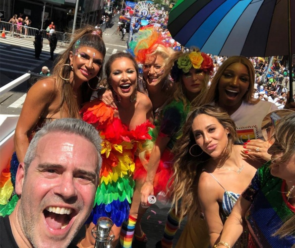 Check Out Photos Of The Bravo Float At Pride: Andy Cohen, Sonja Morgan, Patricia Altschul, Captain Sandy Yawn, LeeAnne Locken, & More!