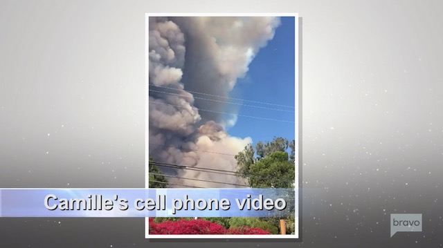 Camille Grammer video of Malibu Fires