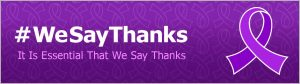 #WeSayThanks We Say Thanks