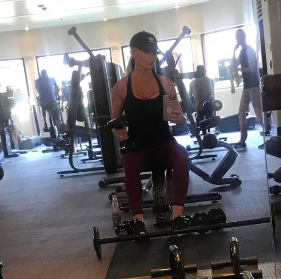 Sticking To Her Workouts